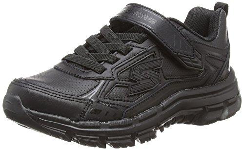 Skechers nitrate-microblast, sneaker bambino, nero (black bbk), 33 eu