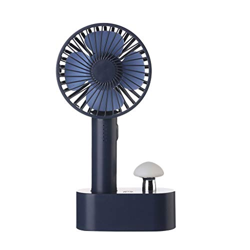 Handheld Fan Mini Ventilador de Mano Portátil Eléctrico, Ventilador con Pilas Recargable...