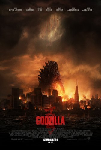 1 X Godzilla (2014) 12X18 Movies Poster (THICK) - Aaron Taylor-Johnson, Elizabeth Olsen, Bryan Cranston by World Mall Group
