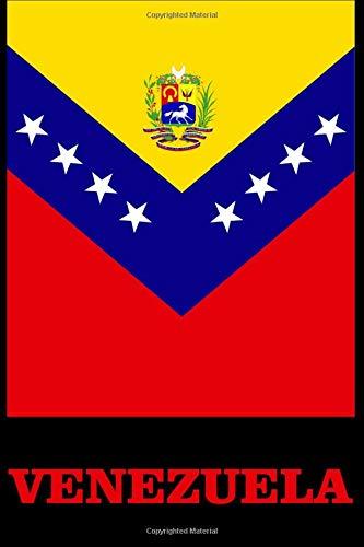 Venezuela: Libro de anotaciones 120 hojas en blanco con renglones tapas terminacion mate 6x9 pulgadas Blank Lined Journal Daily Notebook 6x9 Inches por Edu Publish