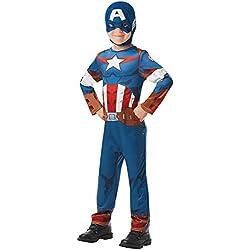 Rubie's 640832S - Disfraz infantil oficial de Marvel Avengers Capitán América, talla única