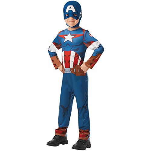 ffizielles Marvel Avengers Captain America Classic Kind costume-medium Alter 5–6, Höhe 116 cm, Jungen, one size (Captain America Halloween Kostüme Kinder)