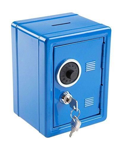 Idena 50036 - Spartresor, 120 x 105 x 160 mm, blau -