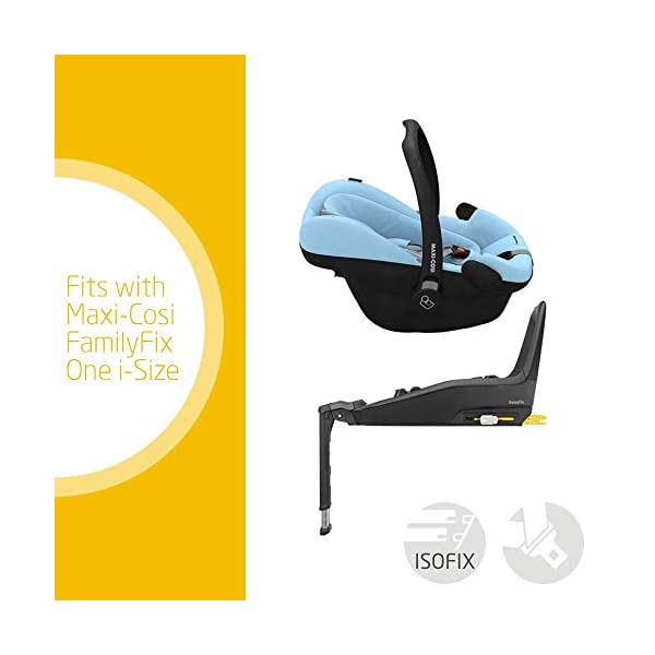 Maxi-Cosi Pebble Plus Baby Car Seat Group 0+, ISOFIX Car Seat, i-Size, 0-12 m, 0-13 kg, 45-75 cm, Sky Maxi-Cosi Baby car seat, suitable from birth to approximate 1 year (0-13 kg, 45-75 cm) Fits with compatible Maxi-Cosi base unit for ISOFIX installation i-Size for enhanced safety and optimal protection against side impacts 2