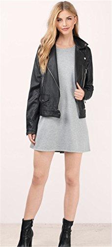 Sexy Sans Manche Mini Courte Débardeur Vest Shift Boxy Straight Ligne Droite De Plage Dress Robe Gris