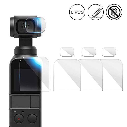 OOOUSE Kameralinse Anti-Kratz-Displayschutzfolie für DJI Osmo Pocket, verbesserte 4H gehärtete Glas-Displayschutzfolie mit HD-Objektiv-Schutzfolie, Zubehör Set 3 Set