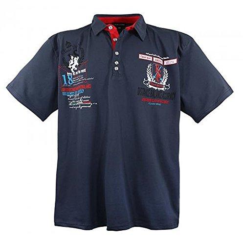 Polo-Shirt Kollektion Sommer 2017 in Bordeaux Rot von 3XL - 8XL Rot