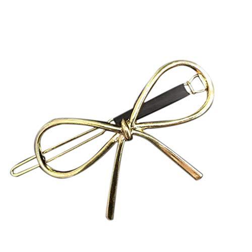 Jinzuke Höhlebowknot Frauen Mädchen Hohle Haar-Klipp-Legierung Metall Lässige Hairpin-Greifer Kopfbedeckung Geschenke