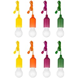 Tiempo de saldos 8X bombilla LED Portátil coloreada Sin Corriente para Casa Camping jardín