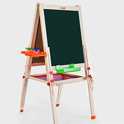 QFFL Staffelei Massivholz Kinder Reißbrett Set Lift Bracket-Stil Kleine Tafel doppelseitige Magnettafel Sketchpad Größe Optional Staffeleien (größe : 56 * 56cm)