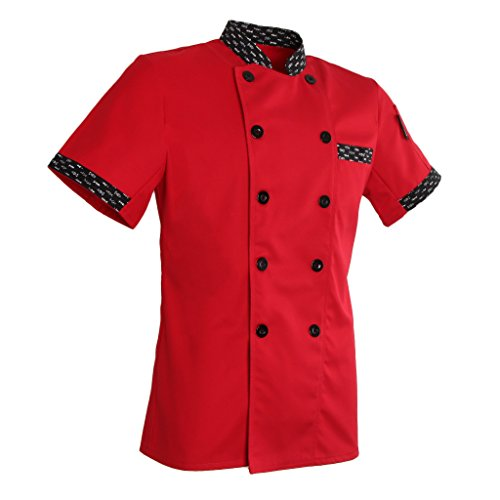 Herren Damen Kochjacke Bäckerjacke Langarm Kochkleidung Gastronomie Arbeitsjacke