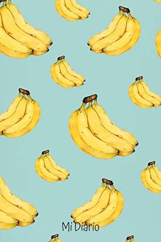 Mi Diario: Diario Personal con 110 Páginas para Apuntar tus Cosas | Para amantes de los Plátanos o Bananas | Espacio para Apuntar Deporte o Yoga ... Pensamientos | Regalo Perfecto de Navidad