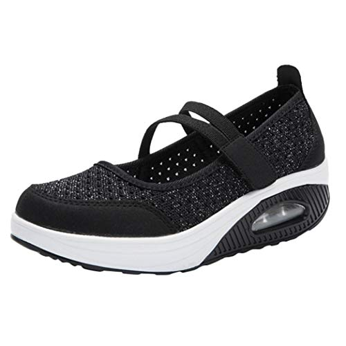 Zapatillas para Mujer Deportivo Verano Plataforma Cuña Merceditas 2018 Moda PAOLIAN Zapatos Casual...