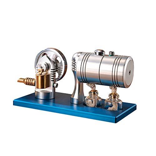 UOPJKL Metall Bootfähig Dampfmaschine Stirling Engine Sterling Engine Stirling Motor Sterling Motor pädagogisches Spielzeug Kit Geschenk