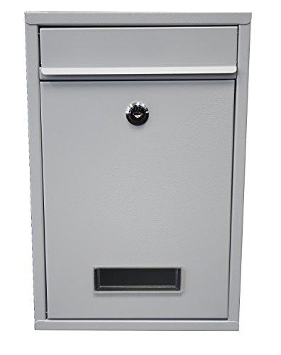 Briefkasten Wandbriefkasten Briefkastenanlage Postkasten Stahl weiß 400003 TOP