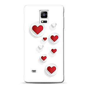 INKIF Planet Earth Abstract Designer Case Printed Mobile Back Cover for Samsung Galaxy Note 4 (Red)