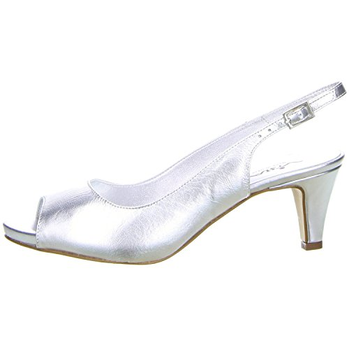 Vista Damen Slingpumps silber Silber