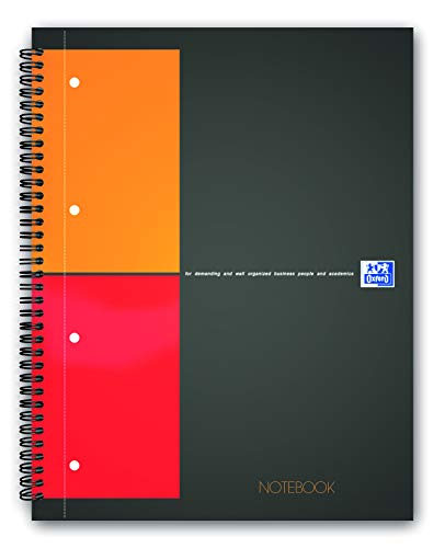 N002988 Hamelin Office Smart A5 Wirebound Notebook Soft Cover Black pack of 5
