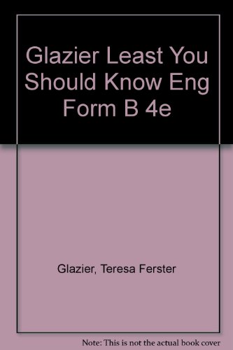 Glazier Least You Should Know Eng Form B 4e