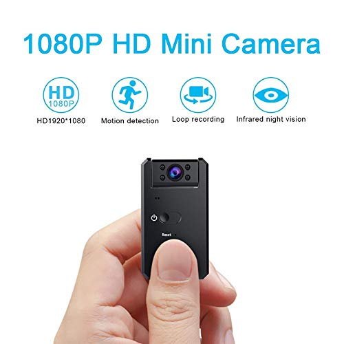 Balscw-J Mini Spy Hidden Camera,1080P Portable Small HD Wireless Home Security Surveillance Cameras, Night Vision and Motion Detection, Indoor/Outdoor/Car