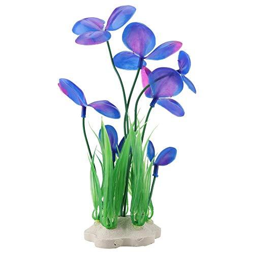 Naroote Aquarium-Plastikpflanzen, künstliche Dekoration der Simulation für Aquarium-Verzierung(Lila) (Leichte Indoor-pflanzer)