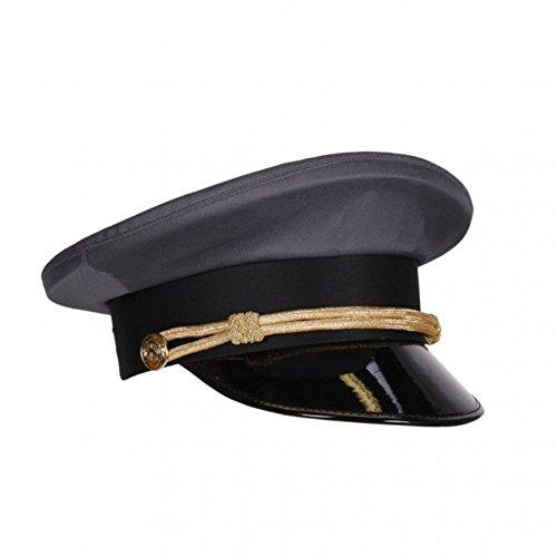 Chauffeur Mütze grau, Kopfweite 61,Fahrer Mütze Taxi Schildmütze Fasching...