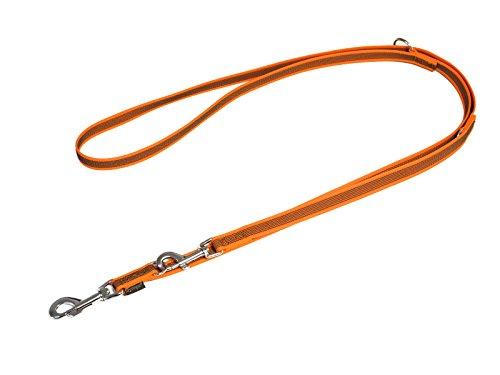 Artikelbild: Mystique® Gummierte Umhängeleine Leine 20mm Standard Karabiner neon orange 2,5m
