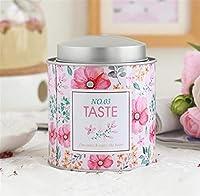 Récipient à thé de thé Boîtes en fer blanc Boîtes à thé doubles Boîtes à thé en forme de fleur (fleur) de Huyizhi