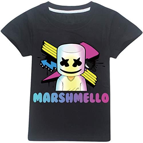 EMILYLE Niños Chicos Camiseta Marshmello Infantil Chula DJ Tshirt Manga Corta 160cm,1...
