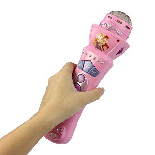 WINWINTOM LED Mikrofon Mic Karaoke singen Kinder Geschenk Musik Spielzeug rosa