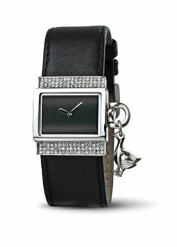 Moschino - MW0042 - Montre Femme - Quartz - Analogique - Bracelet Cuir Noir