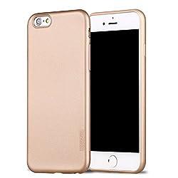 X-level iPhone 6s Hülle, [Guadian Serie] Soft Flex Silikon [Gold] Premium TPU Echtes Telefongefühl Handyhülle Schutzhülle für iPhone 6s 4,7 Zoll Case Cover