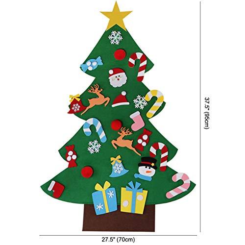 Albero Di Natale Fai Da Te Per Bambini.Naisicatar 3d Fai Da Te Feltro Albero Di Natale Bambino Amichevole Albero Di Natale Appeso Regali Di Natale Ornamenti Bambini Di Natale Decorazioni