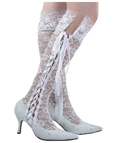 MINITOO ,  Damen Modische Hochzeitsschuhe, weiß - White-7.5cm Heel - Größe: 37.5