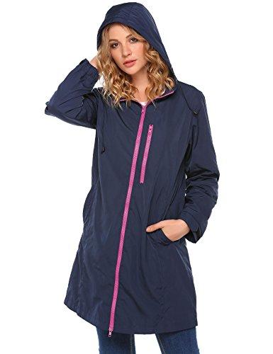 Coorun abrigo impermeable mujer