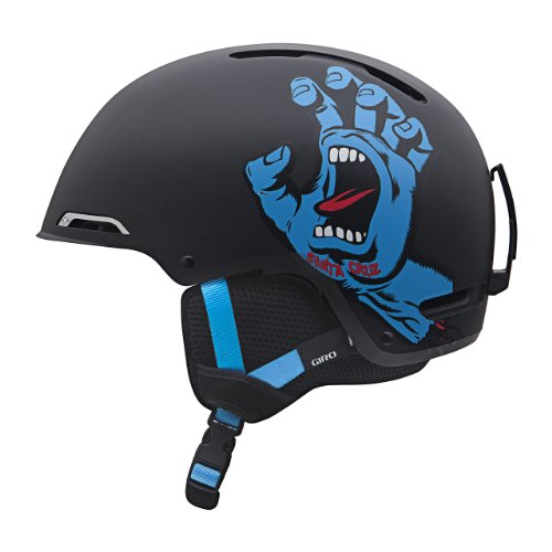 Giro Jugend Rove Snow Helm, Matte Black Santa Cruz Screaming Hand Og (Giro Ski-jugend Helm)