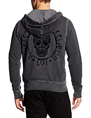 True Religion Men's Hooded Zip Jkt Skull Sports Hoodie