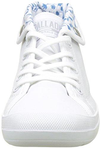 Palladium Aventure Canvas, Sneaker a Collo Alto Donna Bianco (White 420)
