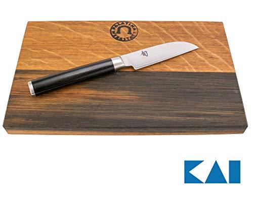 Kai Shun Classic Angebotsset | ultrascharfes Japanisches Gemüsemesser DM-0714 | + von Hand gefertigtes, Robustes Schneidebrett aus Eichenholz, 25x15 cm | VK: 129,- €