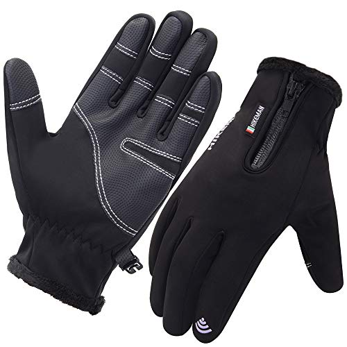 JSDing Winter Handschuhe Herren Winddichte Touchscreen Handschuhe Damen Outdoor Sport Wint