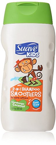 Suave Kids Shampoo, 2 in 1, Smoothers, Cowabunga Coconut, 355 ml (Pack of 6) by Suave