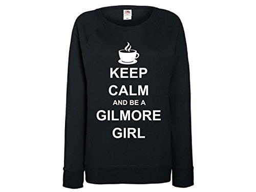 Tachinedas Kreativshop Damen Sweatshirt mit Druck Keep Calm and be a Gilmore Girl (S) -
