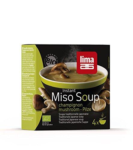Lima Instant Miso Soup Champignon - Bio - 4x9g
