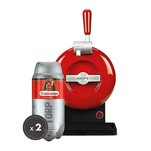 Heineken Pack THE SUB   Barrel beer handle THE SUB Rouge Edition + 2 TORP Cruzcampo Special barrel of beer of 2 liters