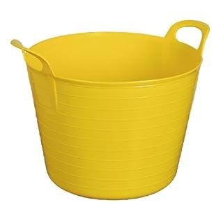 Anything4Home Garteneimer, aus Gummi, flexibel, 42l, groß, Gelb
