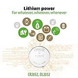 CR2032 3v Lithium Knopfzellen, Li-Mn Knopfbatterien CR 2032 (3 Volt) Pack mit 40 Stück, Batterien einzeln entnehmbar (GP Batteries
