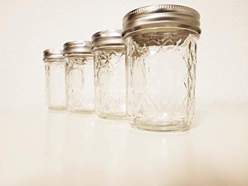 Ball Quilted Crystal-Marmeladengläser 240 ml x 6, mit 2tlg. Schraubverschluss