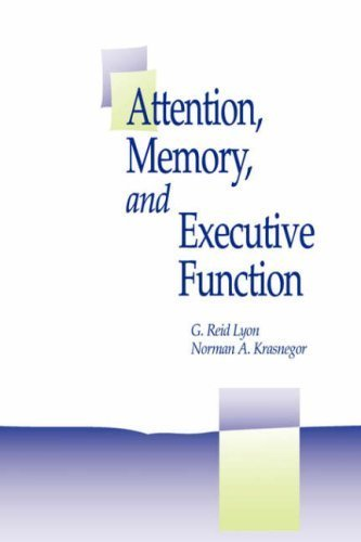 Attention, Memory, and Executive Function by Brookes Publishing (1995-10-31)