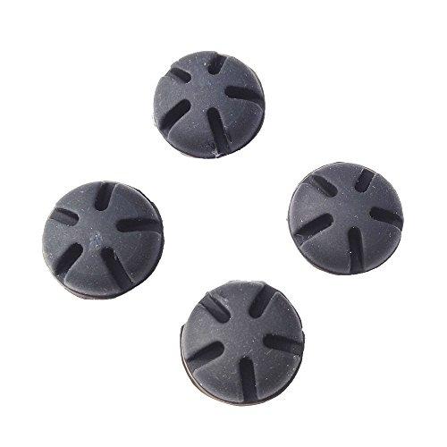 Bogenschießen Stabilisierer Bogen Dämpfer Gummi Vibrationsdämper für Recurve Bogen Compound Bogen (Schwarz,Packung pro 4) -