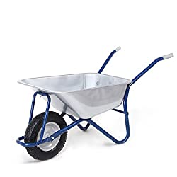MAXCRAFT Schubkarre 200 kg 100 L Bauschubkarre Gartenschubkarre Transportkarre Schiebkarre mit Luftbereifung - Blau